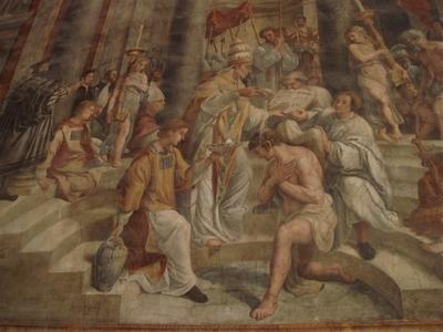050・コンスタンティヌス帝の洗礼・ラファエロの弟子・ジュリアーノ・ロマーノ.jpg