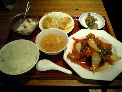 鶏肉の甘酢炒め定食.jpg